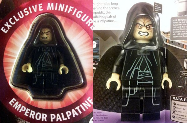 LEGO Star Wars The Dark Side : Exclusive Emperor Palpatine minifig