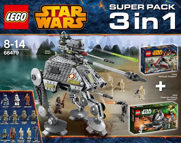 66479 LEGO Star Wars Super Pack 3 in 1