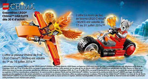 En juillet et en août sur le LEGO Shop