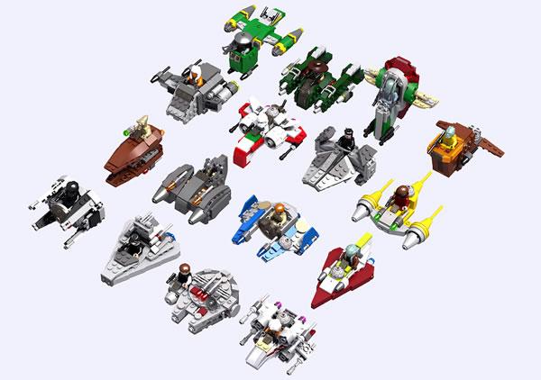 Custom Star Wars Microfighters par turbokiwi