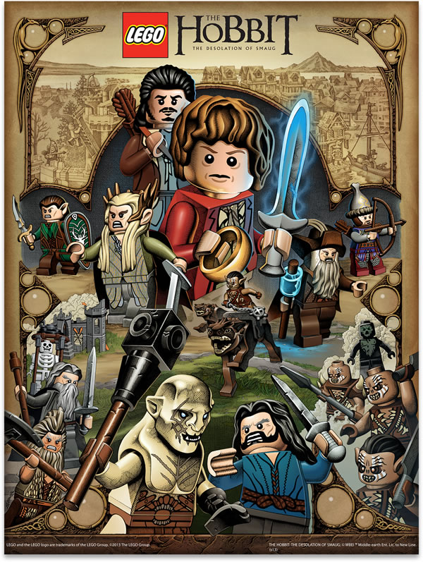 5003573 LEGO The Hobbit poster