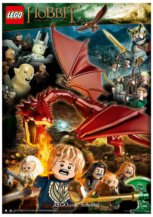 lego the hobbit poster there back again