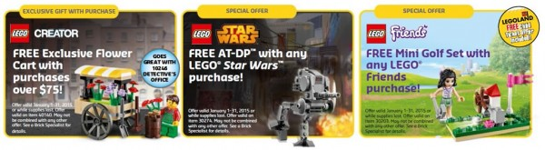 LEGO Store Calendar (US / January 2015) exclusive offers