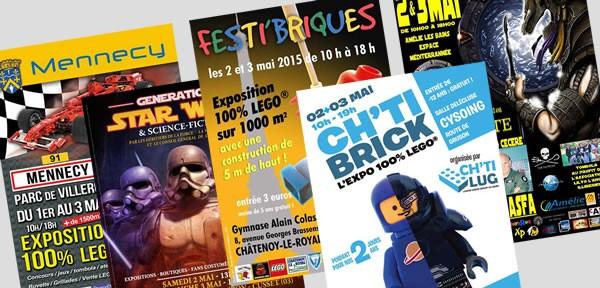 Expositions LEGO et conventions thématiques - Mai 2015