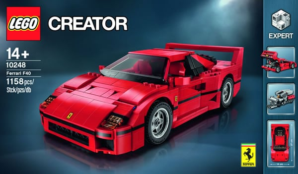 10248 ferrari f40 l 39 annonce officielle hoth bricks. Black Bedroom Furniture Sets. Home Design Ideas