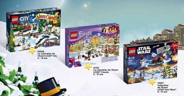 LEGO 2015 Advent Calendars (City, Friends & Star Wars)