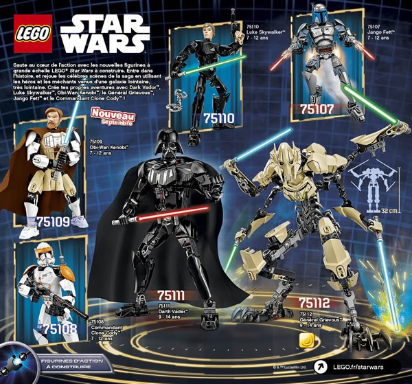 LEGO Star Wars 2015 : Constraction Figures