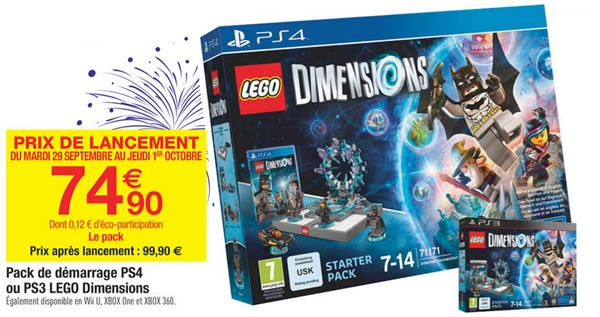 lego dimensions starter pack chez carrefour