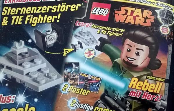 magazine lego star wars star destroyer et tie fighter avec le n 4 hoth bricks. Black Bedroom Furniture Sets. Home Design Ideas