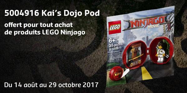 Sur le LEGO Shop : 5004916 Kai's Dojo Pod offert du 14 août au 29 octobre 2017