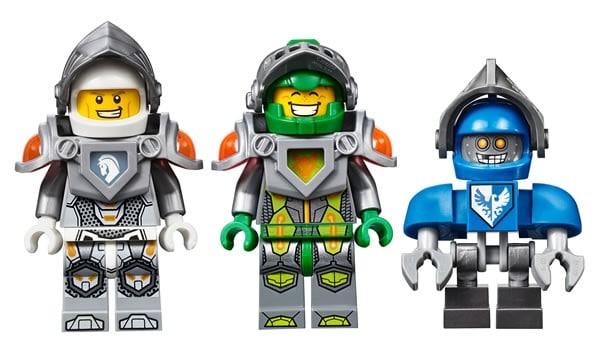 LEGO Nexo Knights : Lance, Aaron & CLaybot