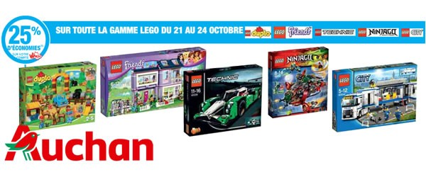 ▷ Auchan : 25% d'économies sur toute la gamme LEGO   HOTH BRICKS