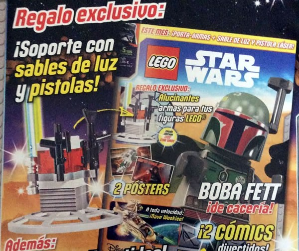 magazine lego star wars un ratelier d 39 armes avec le n 5 hoth bricks. Black Bedroom Furniture Sets. Home Design Ideas
