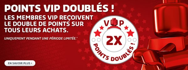 Octobre 2016 : Points VIP doublés sur le LEGO Shop officiel LEGO