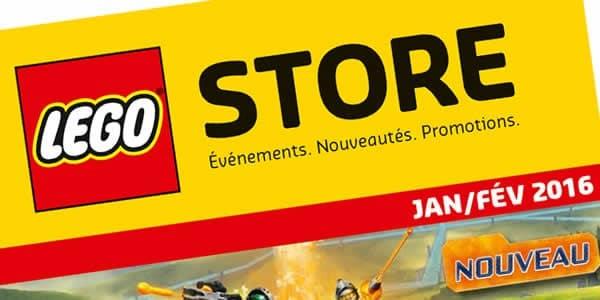 LEGO Store Calendar - Janvier / Février 2016