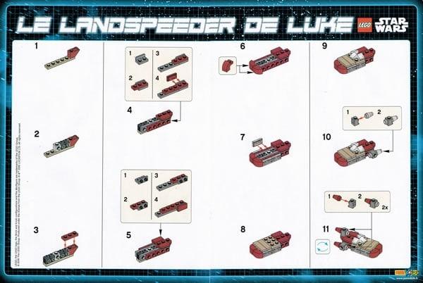 LEGO Star Wars Magazine N°8 (February 2016) - Luke Landspeeder instructions