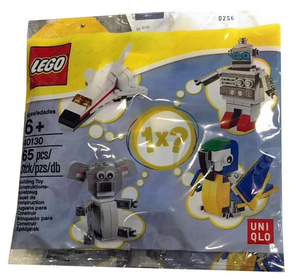 LEGO Uniqlo promotional polybags