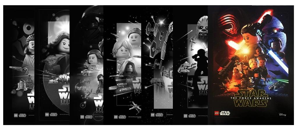 star wars the force awakens l 39 affiche en version lego. Black Bedroom Furniture Sets. Home Design Ideas