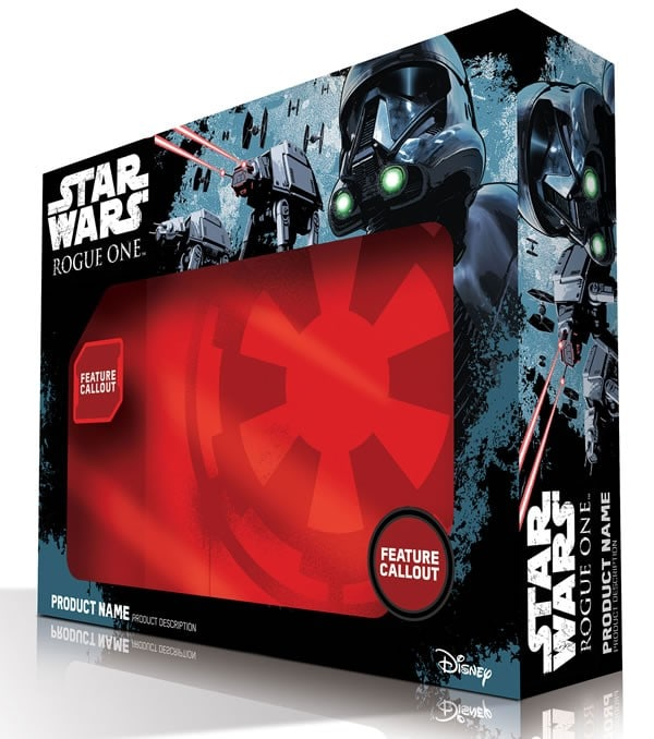 Rogue One official product packaging