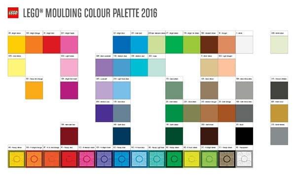 LEGO Moulding Colour Palette 2016