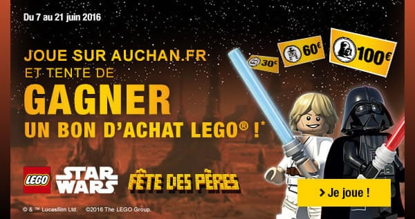 des bons d 39 achat lego gagner chez auchan hoth bricks. Black Bedroom Furniture Sets. Home Design Ideas