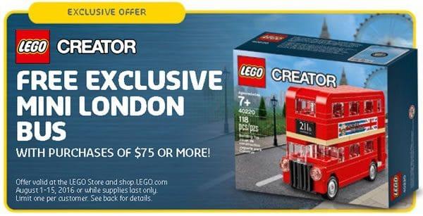 LEGO Creator 40220 Mini London Bus