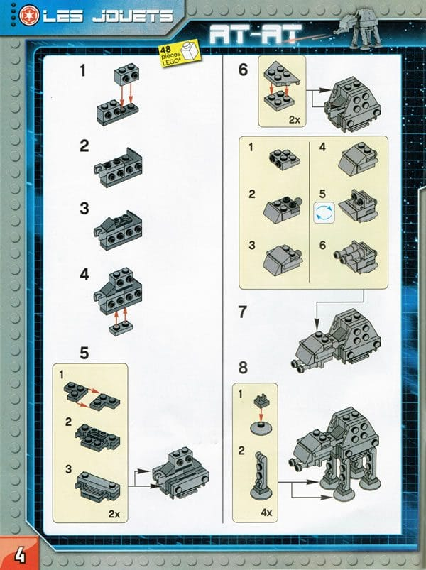 LEGO Star Wars Magazine : AT-AT instructions (Issue #15 - September 2016)
