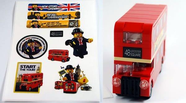 Quelques stickers pour c l brer l 39 ouverture du lego store de leicester sq - Boutique lego londres ...