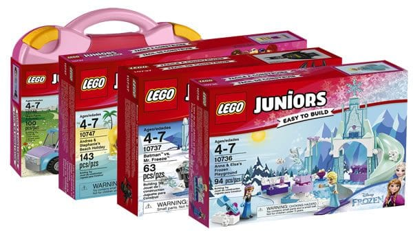 LEGO Juniors 2017 : il y aura aussi Batman, Mr Freeze, Anna et Elsa...