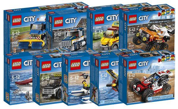 Nouveautés LEGO City 2017 : Après les policiers, le sport, les travaux publics et les pizzas