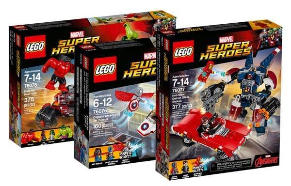 Nouveautés LEGO Marvel 2017 : tous les visuels officiels