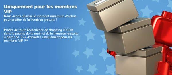 LEGO Shop : Livraison gratuite dès 35 € d'achat