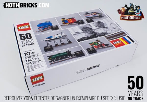 Concours : Un set exclusif LEGO 4002016 50 Years on Track à gagner !