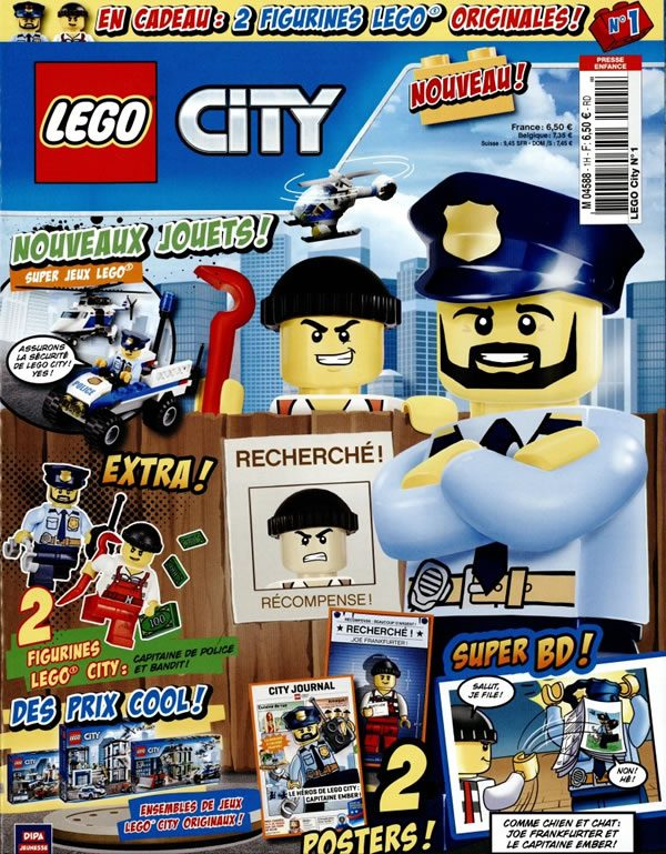 encore un magazine lego du city avec deux minifigs en. Black Bedroom Furniture Sets. Home Design Ideas