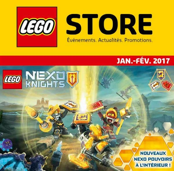 LEGO Store Calendar France - Janvier / février 2017