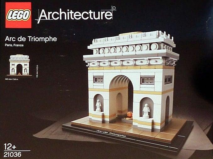 21036 lego architecture arc de triomphe de plus pr s c. Black Bedroom Furniture Sets. Home Design Ideas
