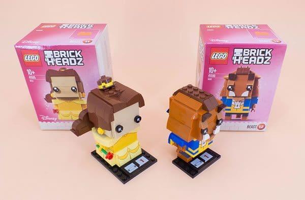 LEGO BrickHeadz 41595 Belle et 41596 Beast