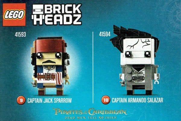 LEGO BrickHeadz - 41593 Captain jack Sparrow & 41594 Captain Armando Salazar