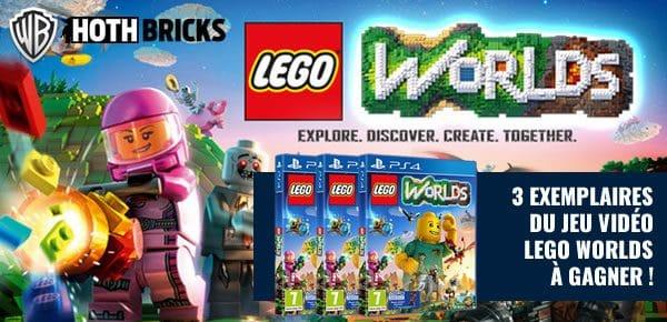 Concours : Trois exemplaires du jeu LEGO Worlds à gagner !