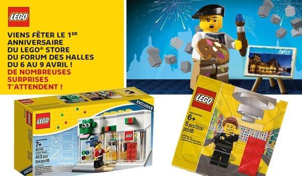 Du 6 au 9 avril 2017 : Grand Opening du LEGO Store du Forum des Halles