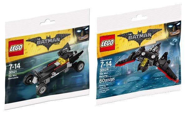 lego polybags 30521 batmobile 30524 batwing