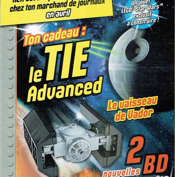LEGO Star Wars Magazine : Le Tie Advanced avec le numéro d'avril 2017