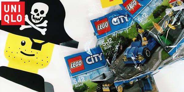 Polybags LEGO City offerts chez UNIQLO : 30346 Prison Island Helicopter, 30347 Fire Car, 30348 Mini Dumper, 30349 Sports Car ou 30422 Kai's Mini Dragon