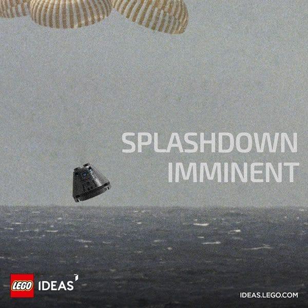 LEGO Ideas 21309 NASA Apollo Saturn V : Amerrissage imminent pour le module de commande