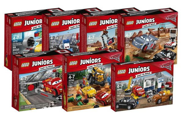 LEGO Juniors : Disponibilité immédiate des sets basés sur le film d'animation Cars 3
