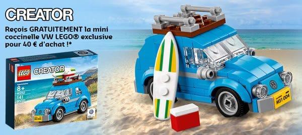 Sur le Shop@Home : Set LEGO Creator 40252 Mini VW Beetle offert dès 40 € d'achat
