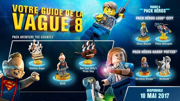 LEGO Dimensions : en route pour la 8ème vague de packs d'extension