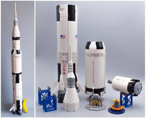 LEGO Ideas 21309 NASA Apollo Saturn V (Banana for scale)