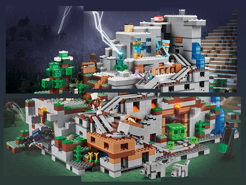 lego minecraft 21137 the mountain cave fin du teasing le set d voil au complet hoth bricks. Black Bedroom Furniture Sets. Home Design Ideas