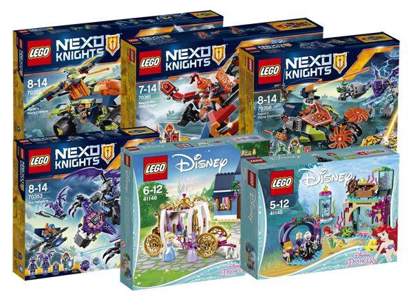 Nouveautés LEGO Nexo Knights et Disney du second semestre 2017 : encore des visuels officiels